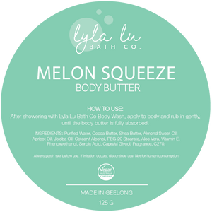 Melon Squeeze Body Butter 125g - Lyla Lu Bath Co