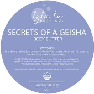 Secrets of a Geisha Body Butter 125g - Lyla Lu Bath Co