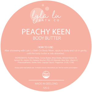 Peachy Keen Body Butter 125g - Lyla Lu Bath Co