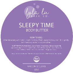 Sleepy Time Body Butter 125g - Lyla Lu Bath Co