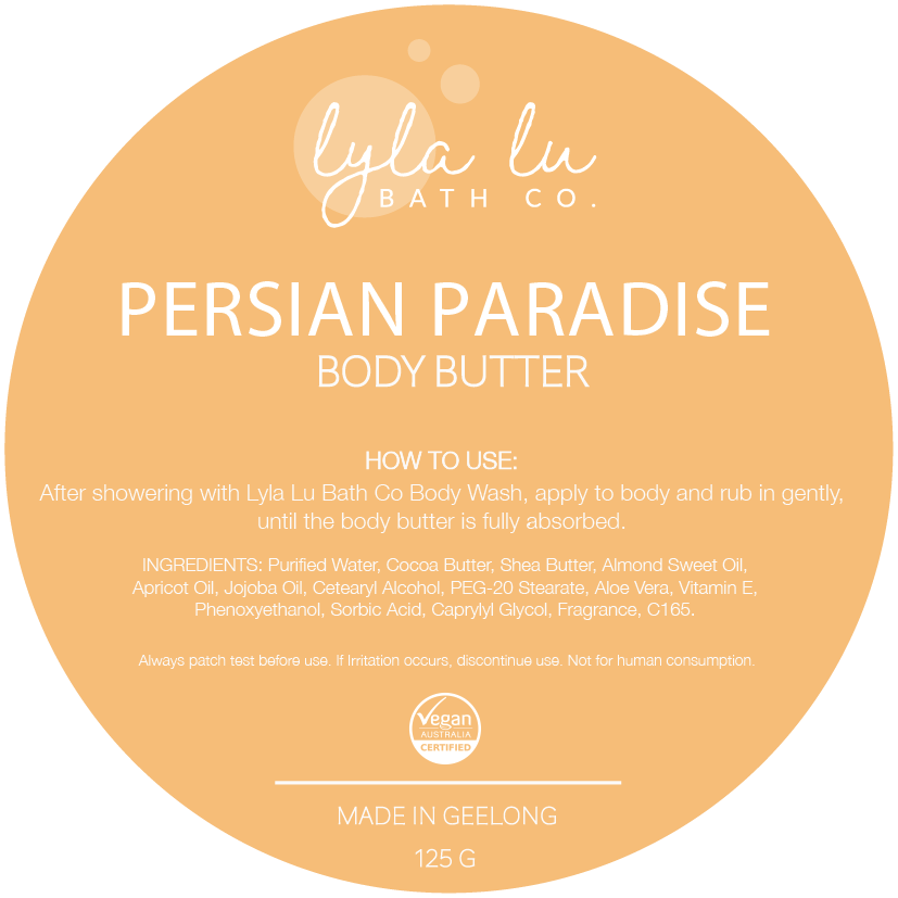 Persian Paradise Body Butter 125g - Lyla Lu Bath Co