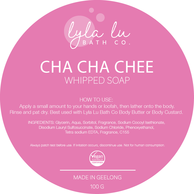 Cha Cha Chee - Whipped Soap 100g