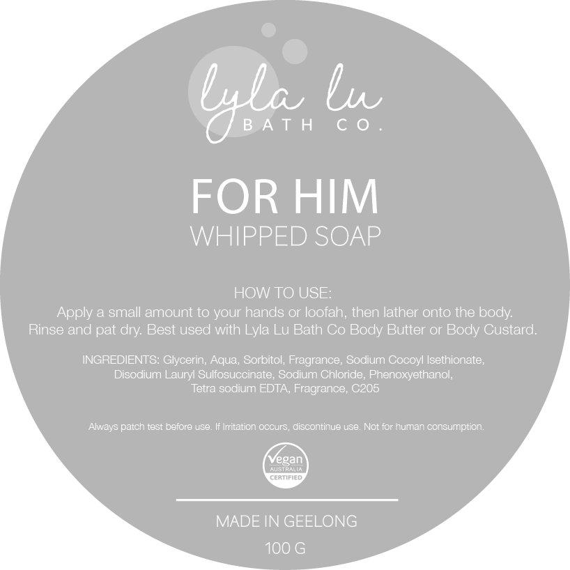 For Him - Whipped Soap 125g