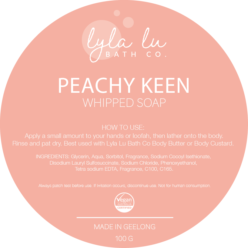 Peachy Keen - Whipped Soap 125g