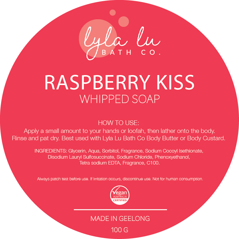 Raspberry Kiss - Whipped Soap 100g