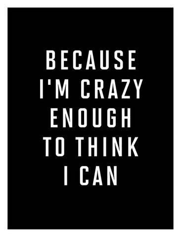 I Am Just Crazy Enough is a custom made funny top quality sarcastic t-shirt that is great for gift giving or just a little laugh for yourself