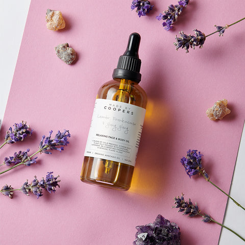 relaxing face and body oil