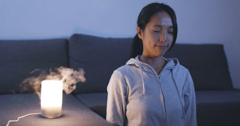 meditate with diffuser