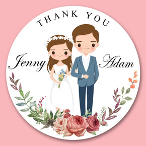 Wedding band Sticker for Favor( 24 of set)