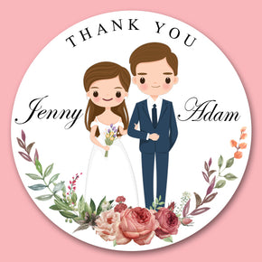 Wedding dress Sticker for Favor( 24 of set)