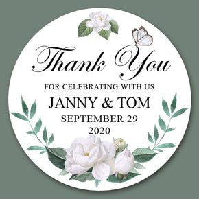 White Wedding Sticker for Favor( 24 of set)