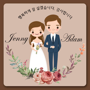 Romantic Wedding dress_ message card (100 of set)