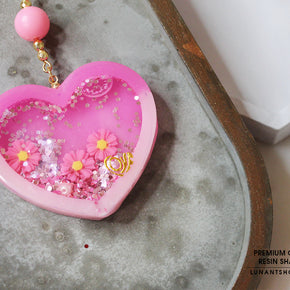 Love Hart Resin Shaker Charm