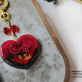 Red Hart Resin Shaker Charm