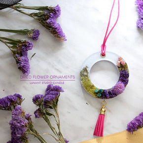 Purple Wreath Car Air Freshener