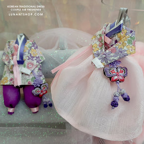 Light Pink & Violet -Traditional Couple dress air refresher