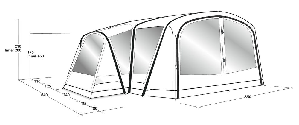 Outwell Oakdale 5PA Air Tent 2021