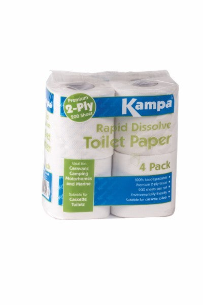 Kampa Rapid Dissolve Toilet Paper (Pack of 4 Rolls)