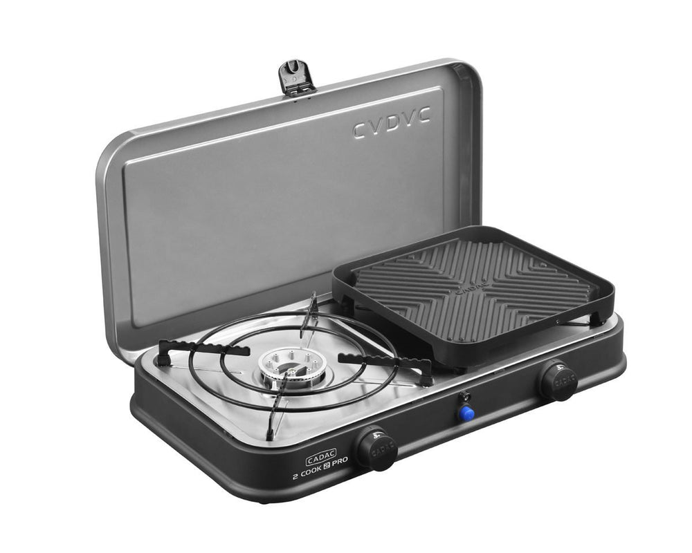 2 Cook 2 Pro Deluxe Stove with Ribbed Plate
