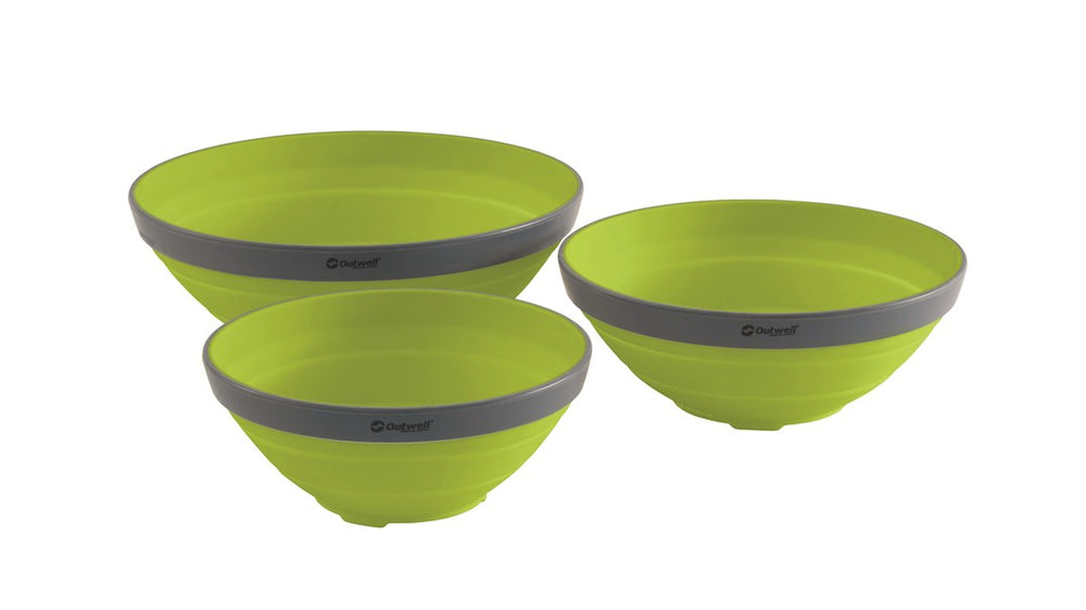 Outwell Collaps Bowl Set Green