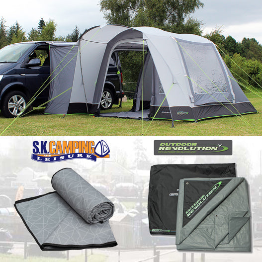 Outdoor Revolution Cayman Curl Air Mid Drive-away Awning Package Deal 2021 - Pre-Order