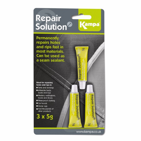 Kampa Repair Solution 3 x 5g Tubes