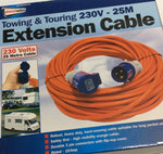 Towing extension cable 230v 25mt