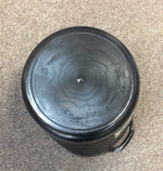 Flexi tub 15lt round black/graphite with inside measure lines