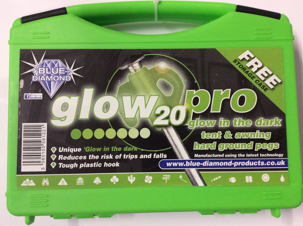 Glow pegs x 20 in a carry box