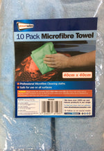 Micro fibre cleaning towels pack of 10