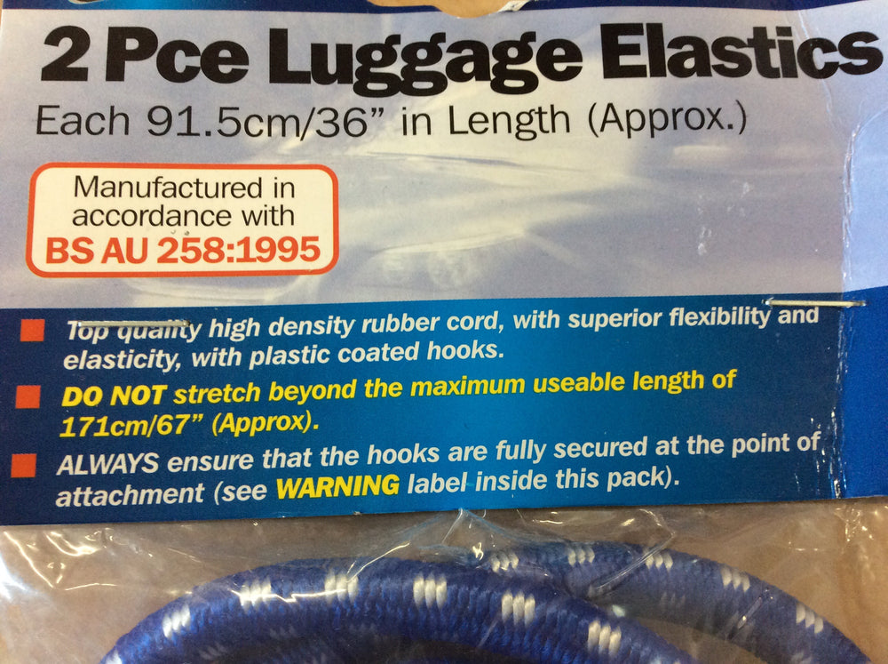 "2pc luggage elastics 36"" (approx)"