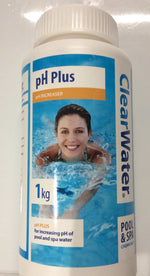 Clearwater Ph plus increaser for swimming pools, hot tubs and spas