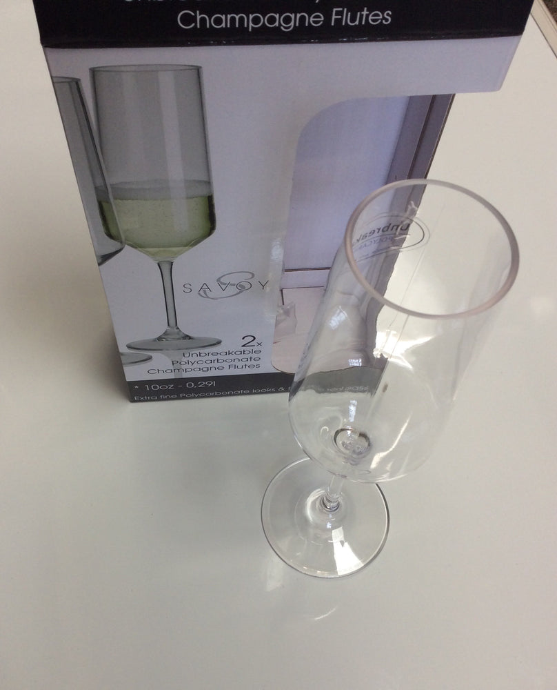 Champagne flutes in polycarbonate 1 x 2 (pair)