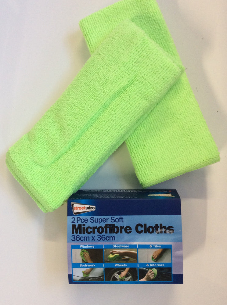 Microfibre super soft cleaning cloth 2pc