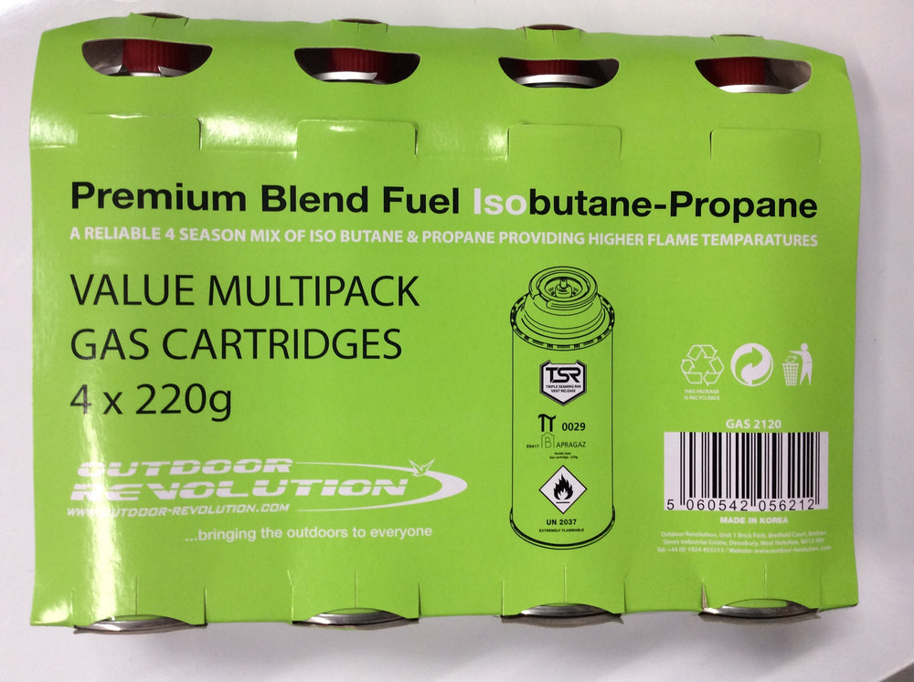 Replacement gas cartridges pack of four