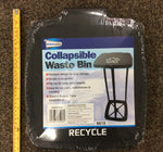 Collapsible waste bin