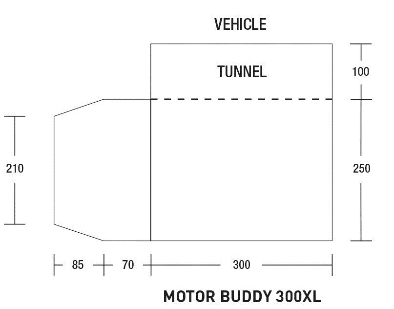 Sunncamp Motor Buddy 300XL Floorplan
