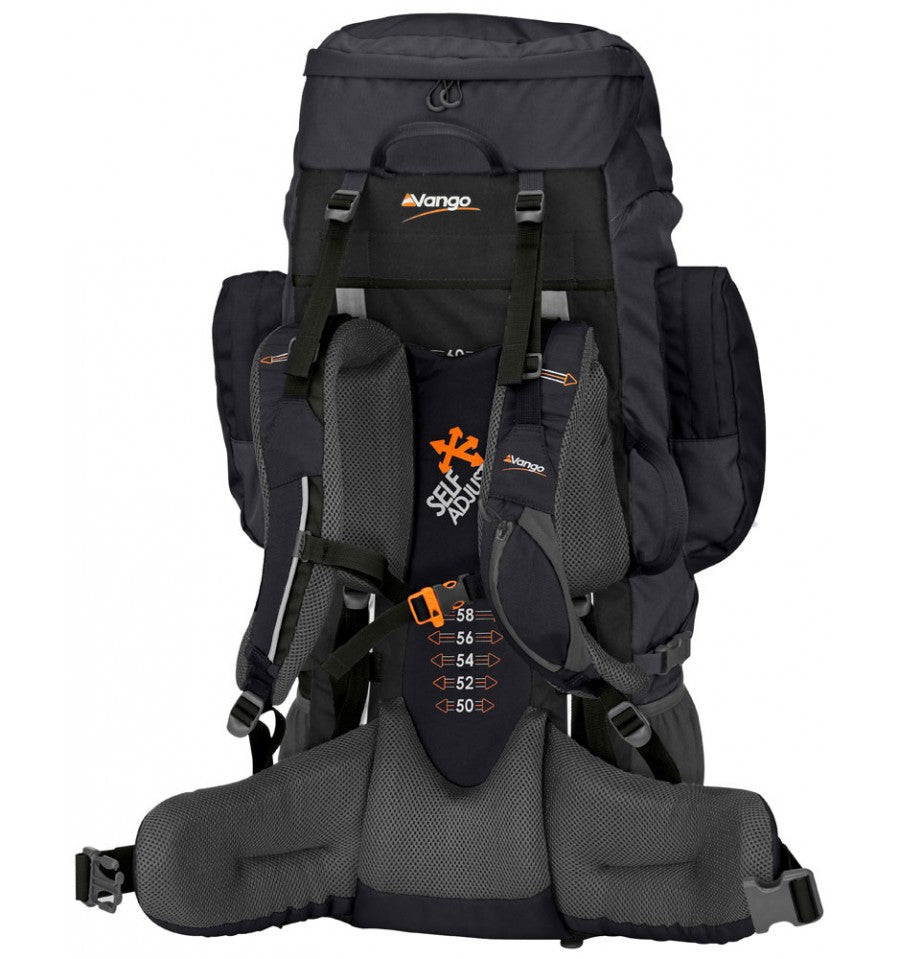 Back of the Sherpa 65 (Shadow Black Colour)