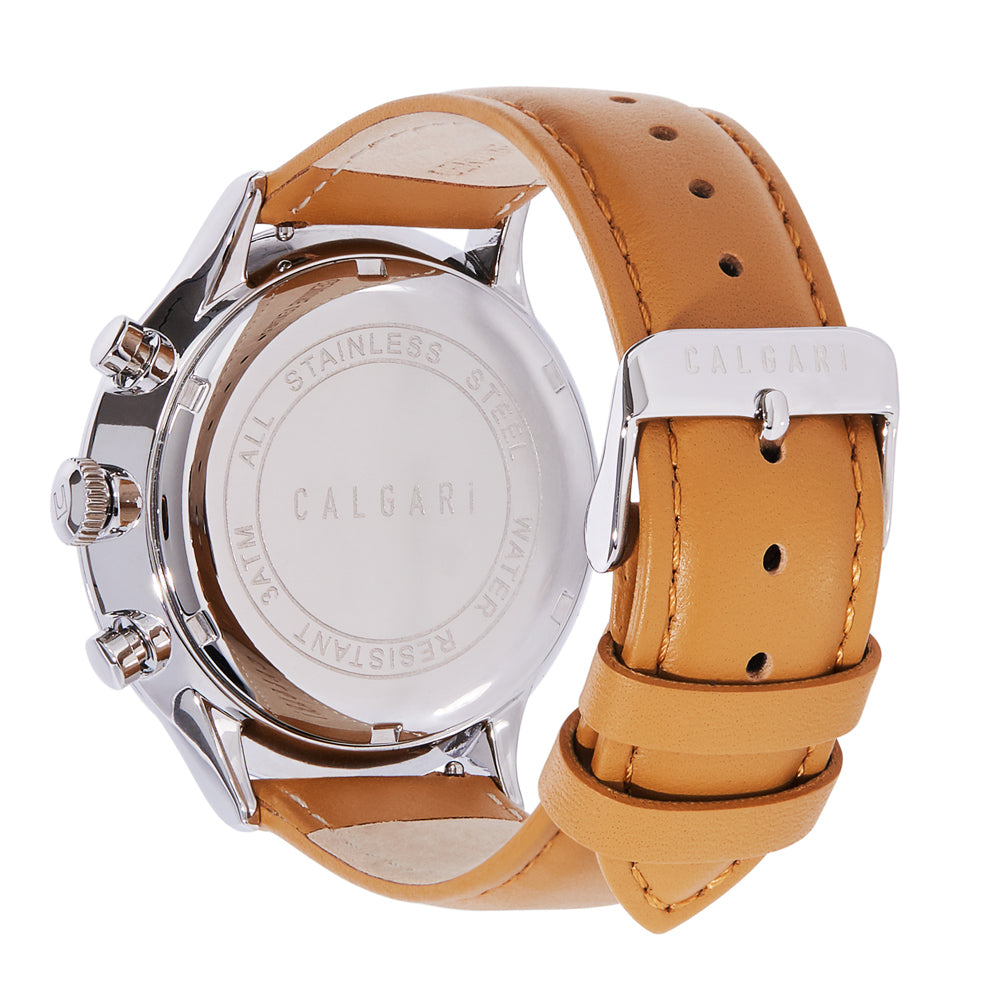 Conscio Watch Strap Beige Leather - back