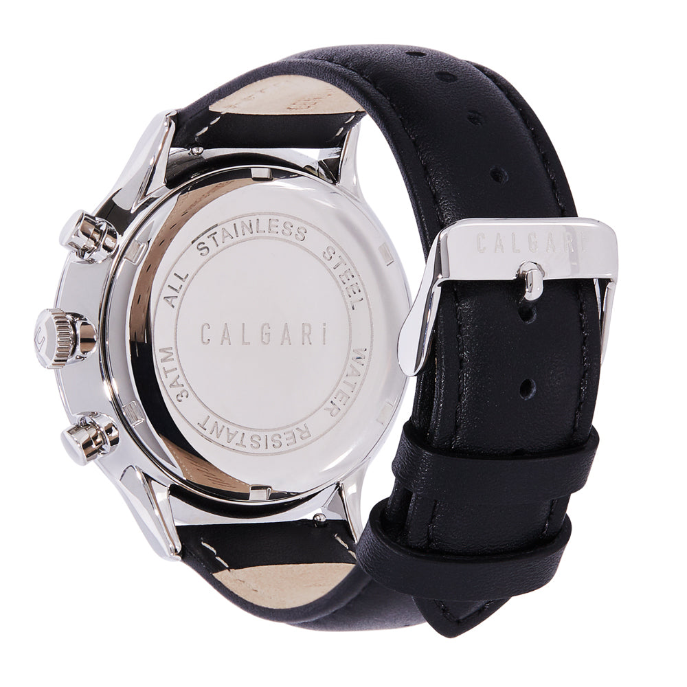 Conscio Watch Strap Black Leather - back