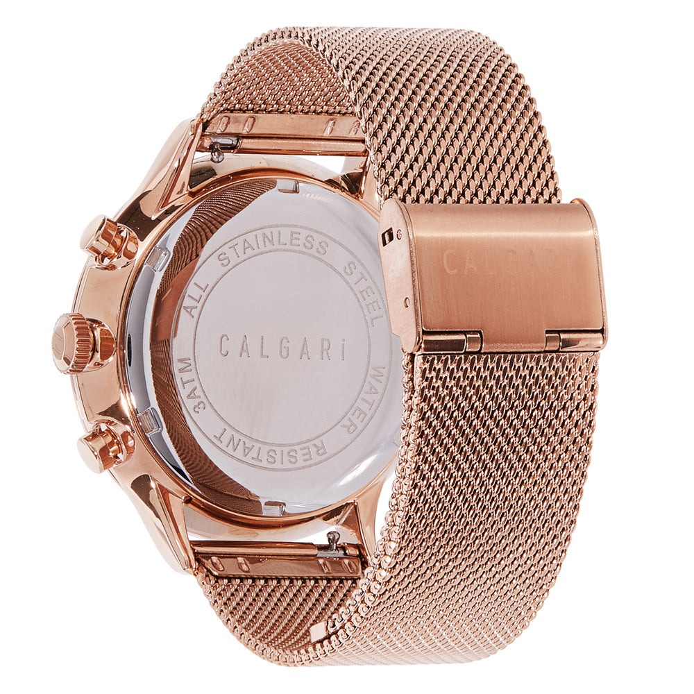 Conscio Watch Strap Rose Gold Mesh - back