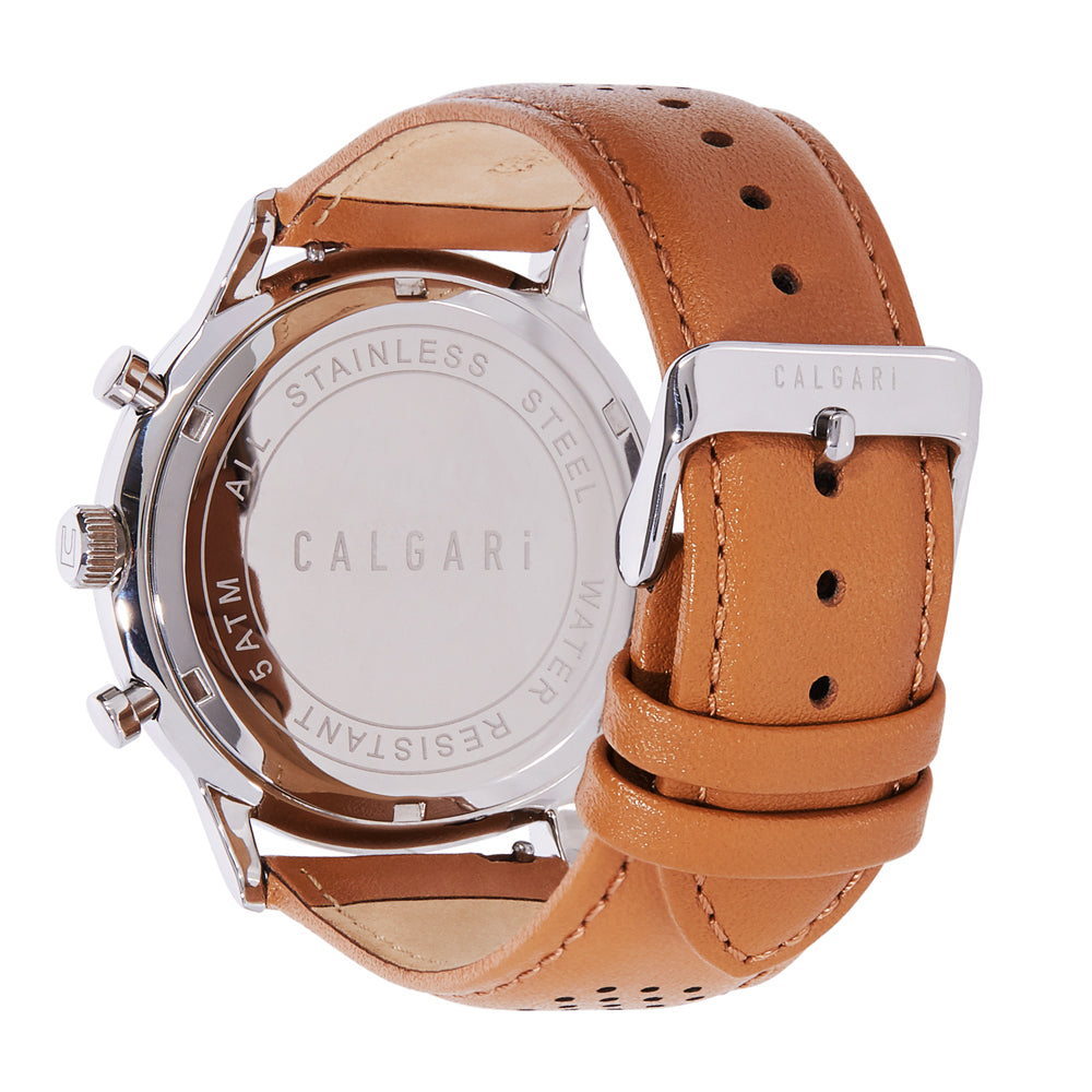 Corragio Watch Strap Beige Leather Racing - back