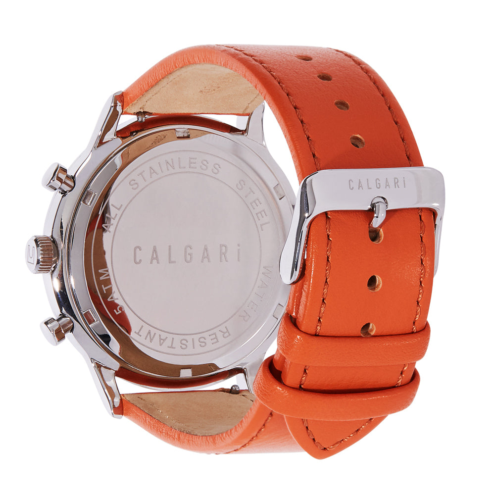Corragio Watch Strap Orange Leather - back