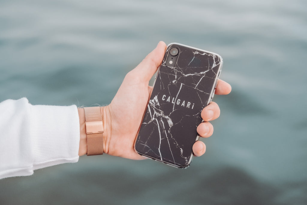 Calgari Premium Iphone Case - Black Marmer