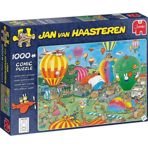 Pussel - Hooray, Miffy 65 Years, Jan Van Haasteren 1000 bitar