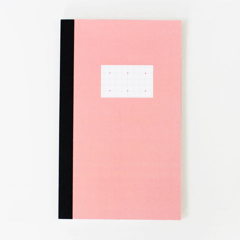 Notebook Cross Grid Rosa Paperways Stationery Sverige