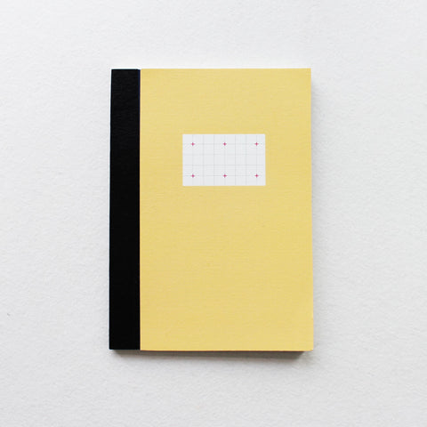 Notebook Cross Grid Gul Paperways Stationery Sverige