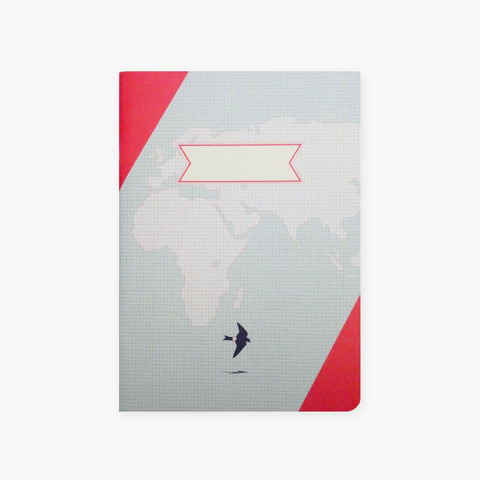 Paperways – Compat Notebook World Map (Röd)