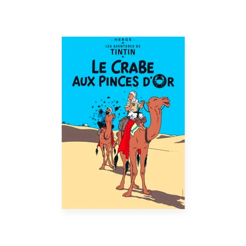 Vykort - Tintin Le Crabe aux Pinces d'Or