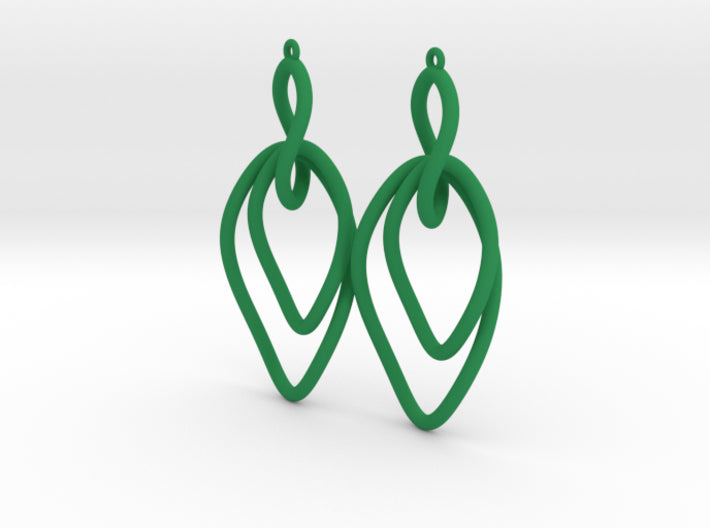 Twisted Oval Link Earrings 3d printed